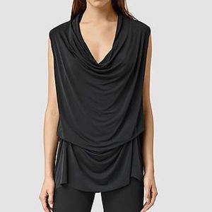 ALL SAINTS Amei SL black top